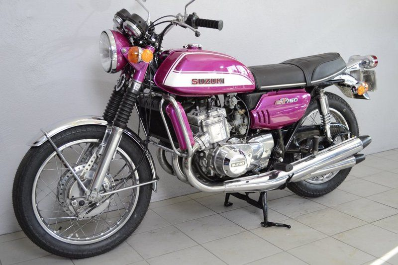 1973 Suzuki Gt750 on yamaha 750 two stroke